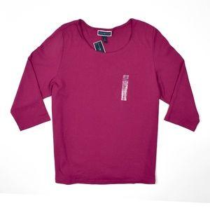 NEW Karen Scott Women's Plus Size Long Sleeve Top